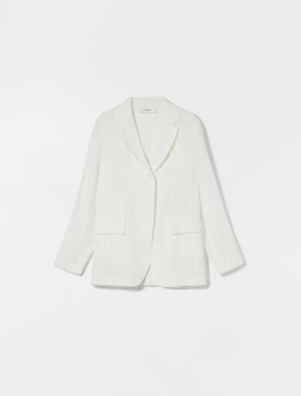 Viscose and ramie blazer