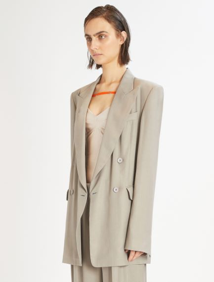 Oversized double-breasted blazer