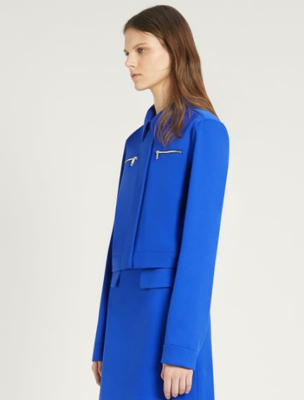 Stretch cotton gabardine jacket