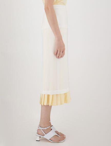 Reversible skirt in light viscose cady