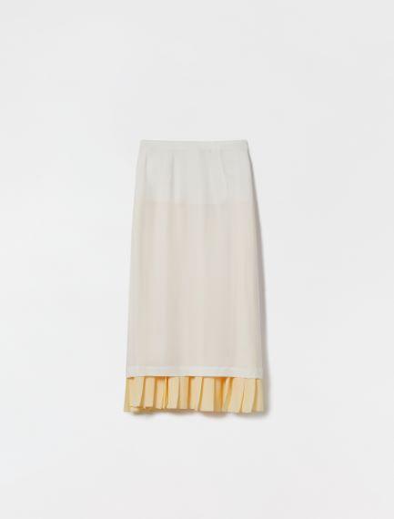 Reversible skirt in light viscose cady Sportmax