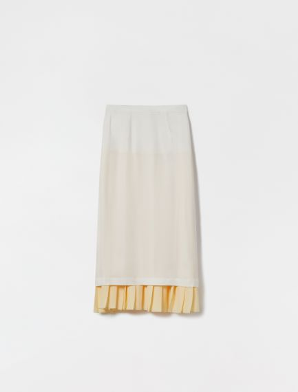 Reversible skirt in light viscose cady Sportmax
