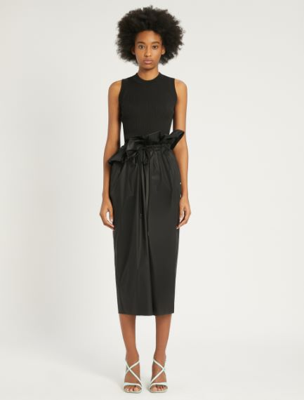 Stretch cotton poplin skirt Sportmax