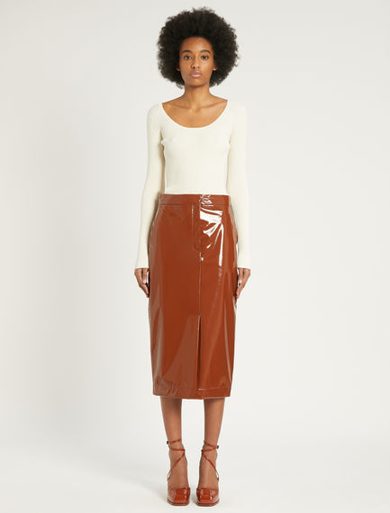 Patent leather pencil skirt Sportmax