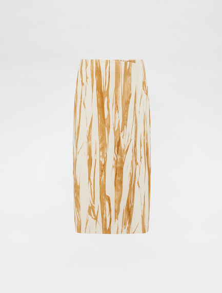 Graphic-print wrap skirt