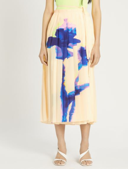 Pleated crepe de chine skirt Sportmax