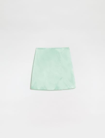 Slit mini skirt