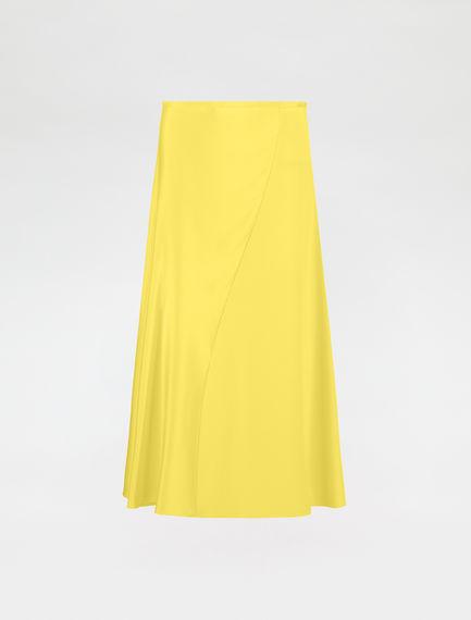 Silk cady skirt