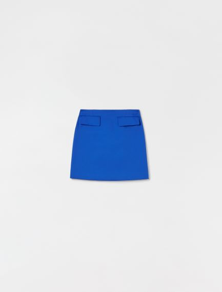 Stretch cotton gabardine skirt