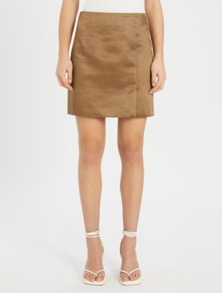 Mini skirt in heavy satin Sportmax