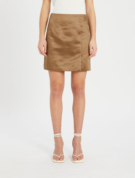 Mini skirt in heavy satin Sportmax