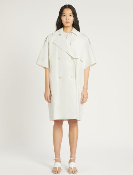 Linen canvas trench coat Sportmax
