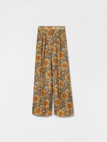 Pure habotai silk trousers