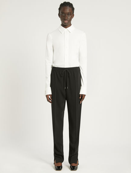 Contrasting band-embellished jogging bottoms Sportmax