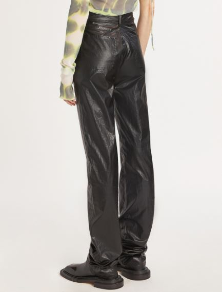 5-pocket coated fabric trousers
