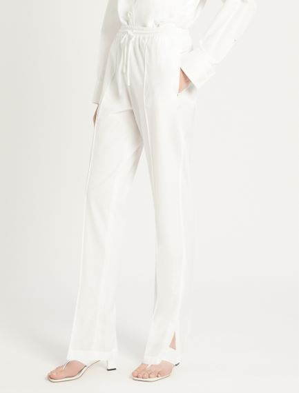Cotton poplin trousers