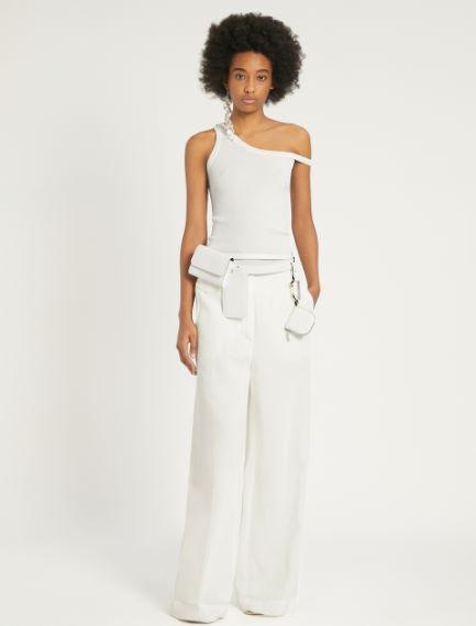 Pantaloni in ramié e viscosa