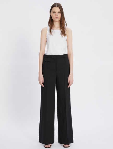Viscose and ramie trousers Sportmax