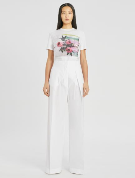 Cotton poplin trousers Sportmax