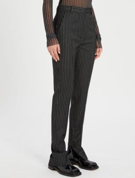 Stretch pinstripe trousers