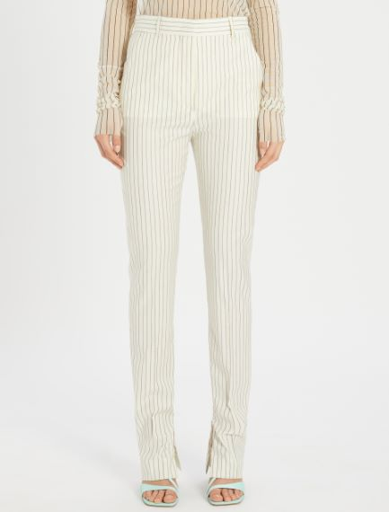 Stretch pinstripe trousers