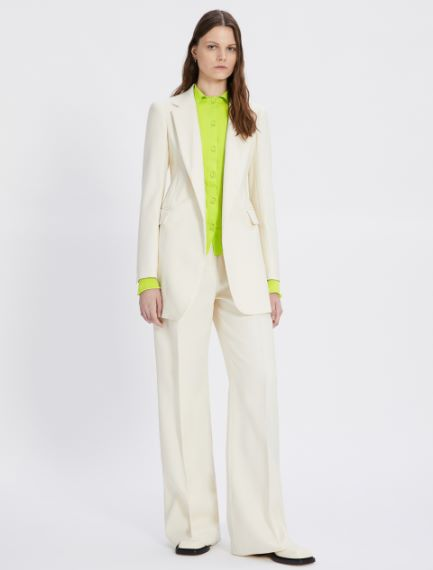 Wide plain-weave trousers