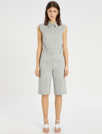 Linen and cotton twill Bermuda shorts Sportmax