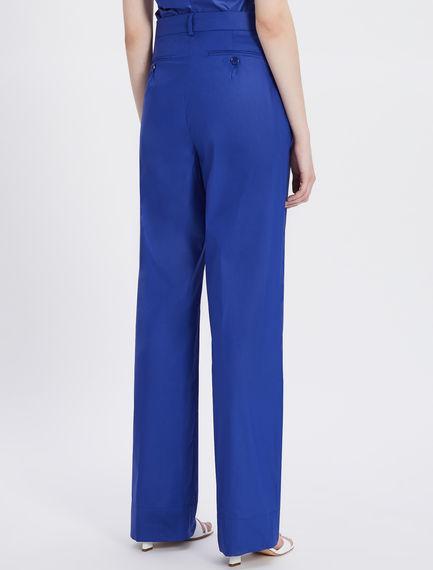 Stretch cotton poplin trousers