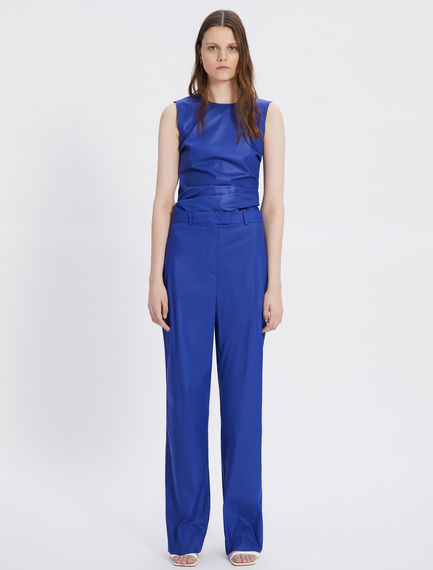 Stretch cotton poplin trousers Sportmax