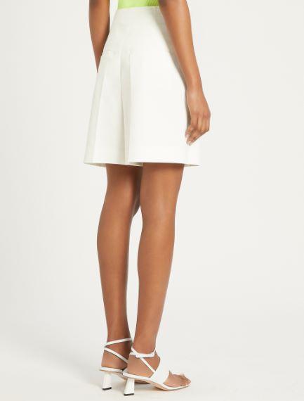 Stretch cotton gabardine Bermuda shorts