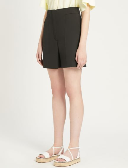 Stretch cotton gabardine Bermuda shorts