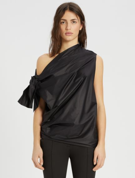 Stretch cotton poplin top Sportmax