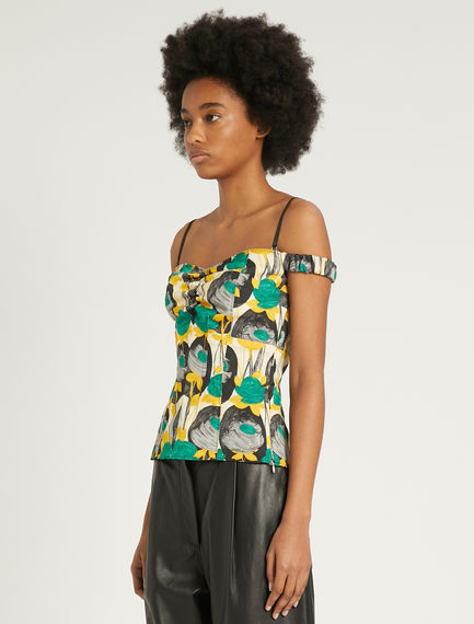 Printed sleeveless top