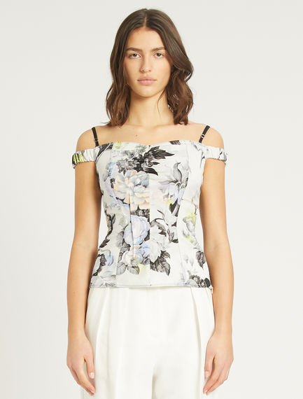 Printed sleeveless top Sportmax