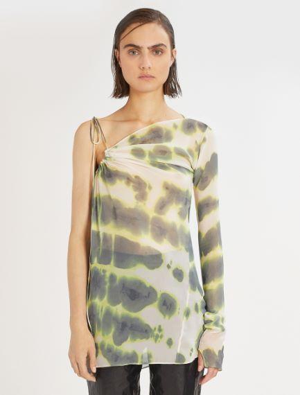 Asymmetric tie-dye print blouse Sportmax