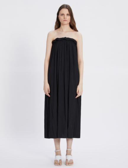 Satin dress with sunray pleating  Sportmax