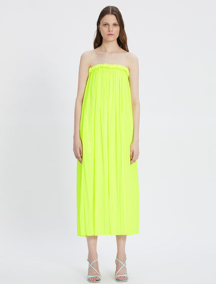 Satin dress with sunray pleating Sportmax