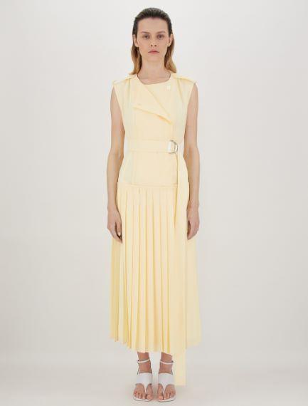 Reversible dress in light viscose cady