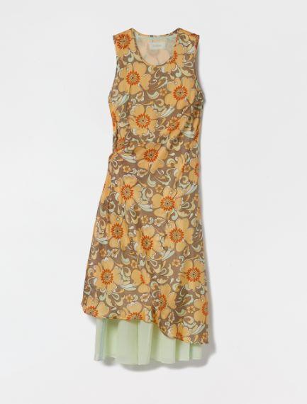 Reversible dress in organic cotton voile Sportmax