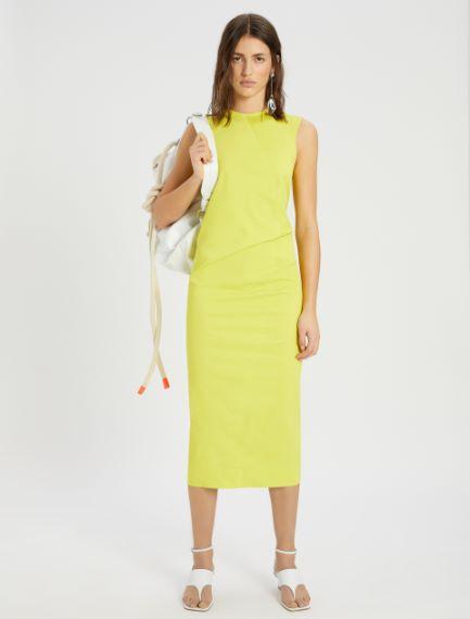 Stretch cotton gabardine dress