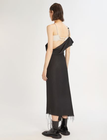 Asymmetric bra dress