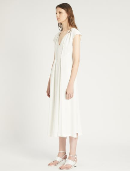 Viscose and ramie dress