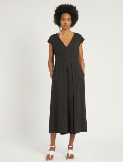 Viscose and ramie dress
