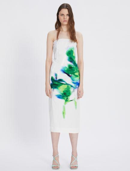Viscose and cotton gabardine dress