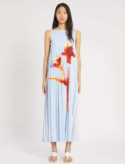 Pleated crepe de chine dress Sportmax