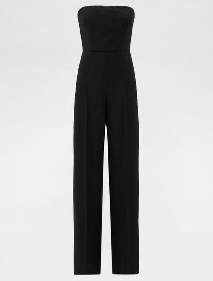 Stretch wool jumpsuit