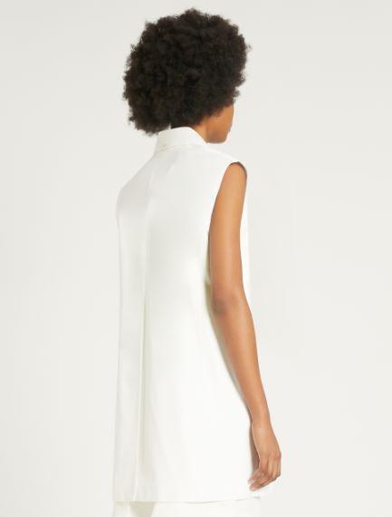 Cotton poplin waistcoat