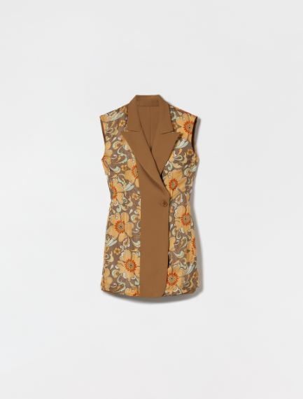 Reversible waistcoat in gabardine  Sportmax
