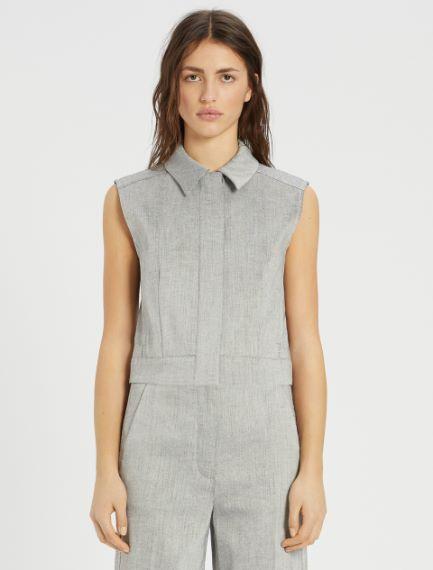 Linen and cotton twill waistcoat Sportmax