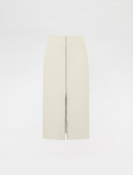 Pencil skirt with zip